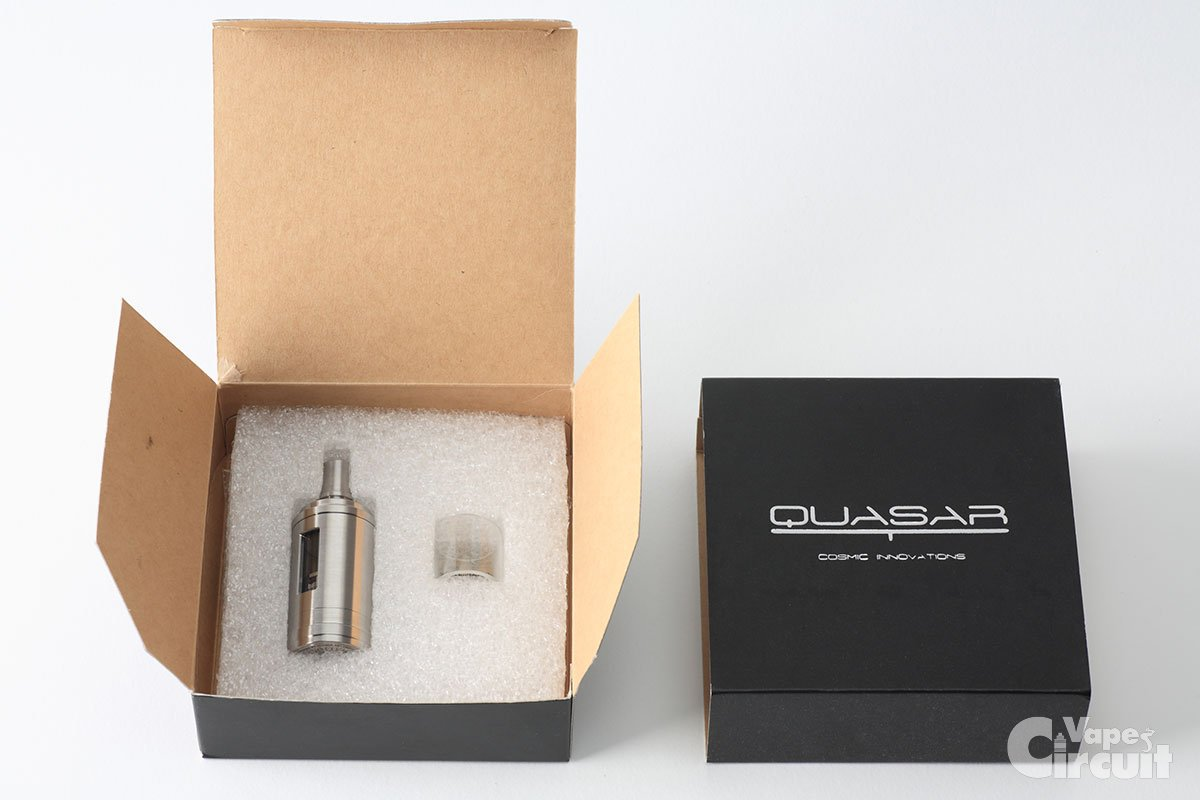 【アトマイザー】「Quasar Tank RTA」(Cosmic Innovations)  レビュー