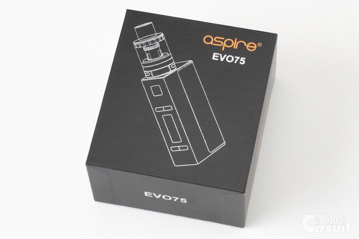 【スターターキッド】EVO75「NX75 Box Mod + Atlantis EVO Tank」 (aspire) レビュー