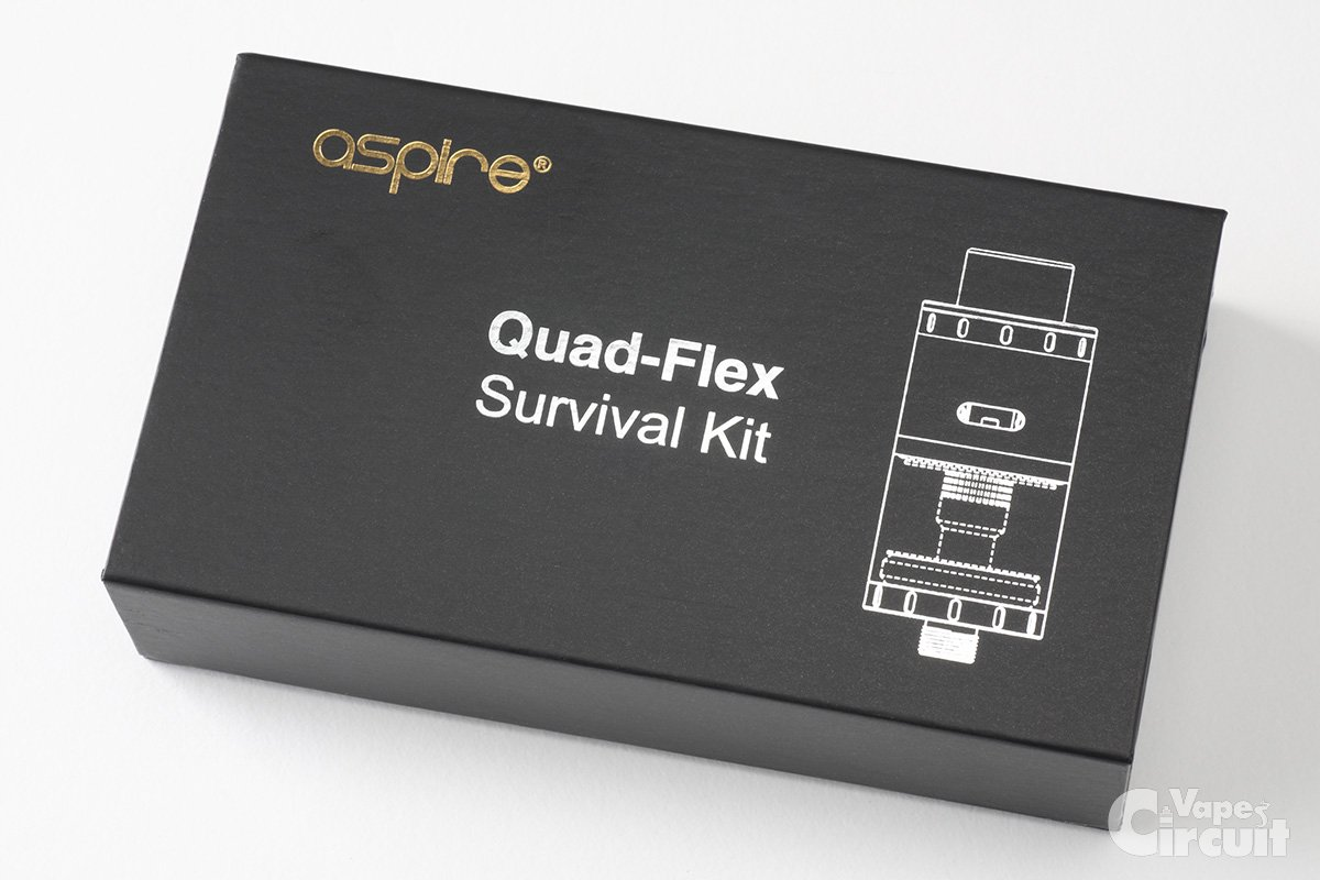 【アトマイザー】Quad-Flex Survival Kit「クアッドフレックス」 (aspire) レビュー