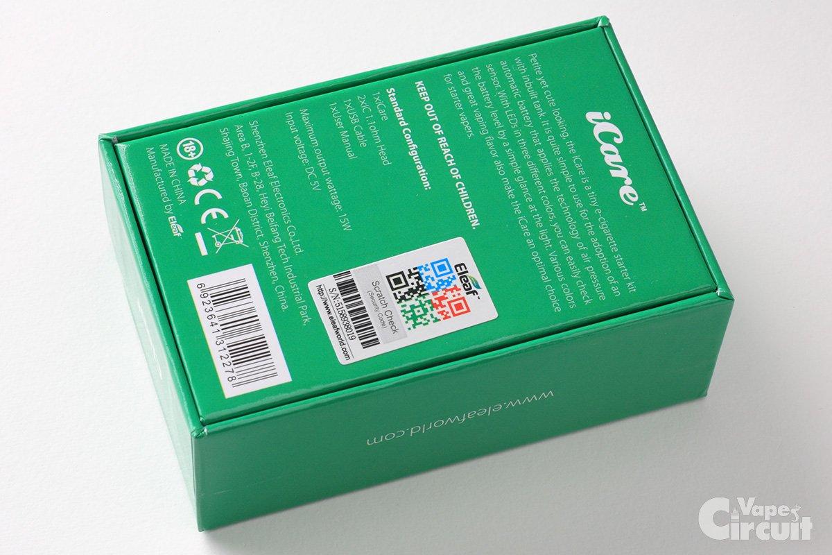 【スターターキット】iCare(eleaf)レビュー