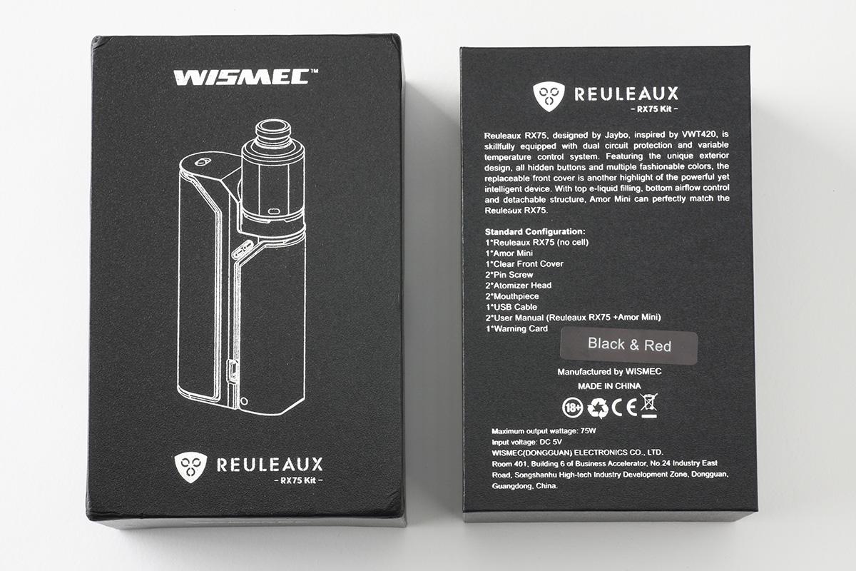 【スターターキット】Reuleaux RX75 ルーロー (WISMEC ウィスメック) レビュー