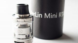 【アトマイザー】Merlin Mini RTA「マーリン・ミニ・RTA」 (Augvape オーグベープ) レビュー