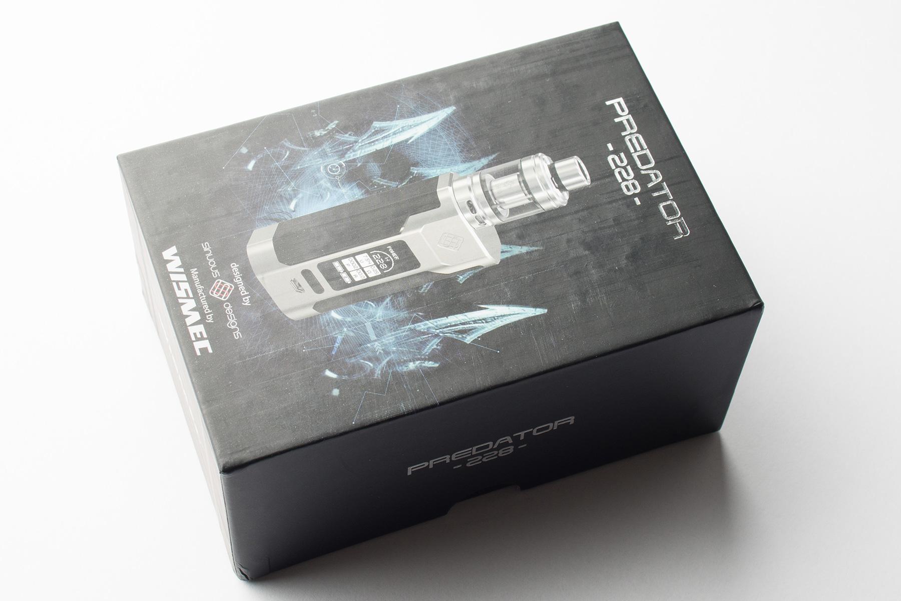 【スターターキット】Predator 228 with Elabo Kit「プレデター228 ウィズ エラドキッド」 (WISMEC ウィスメック) レビュー