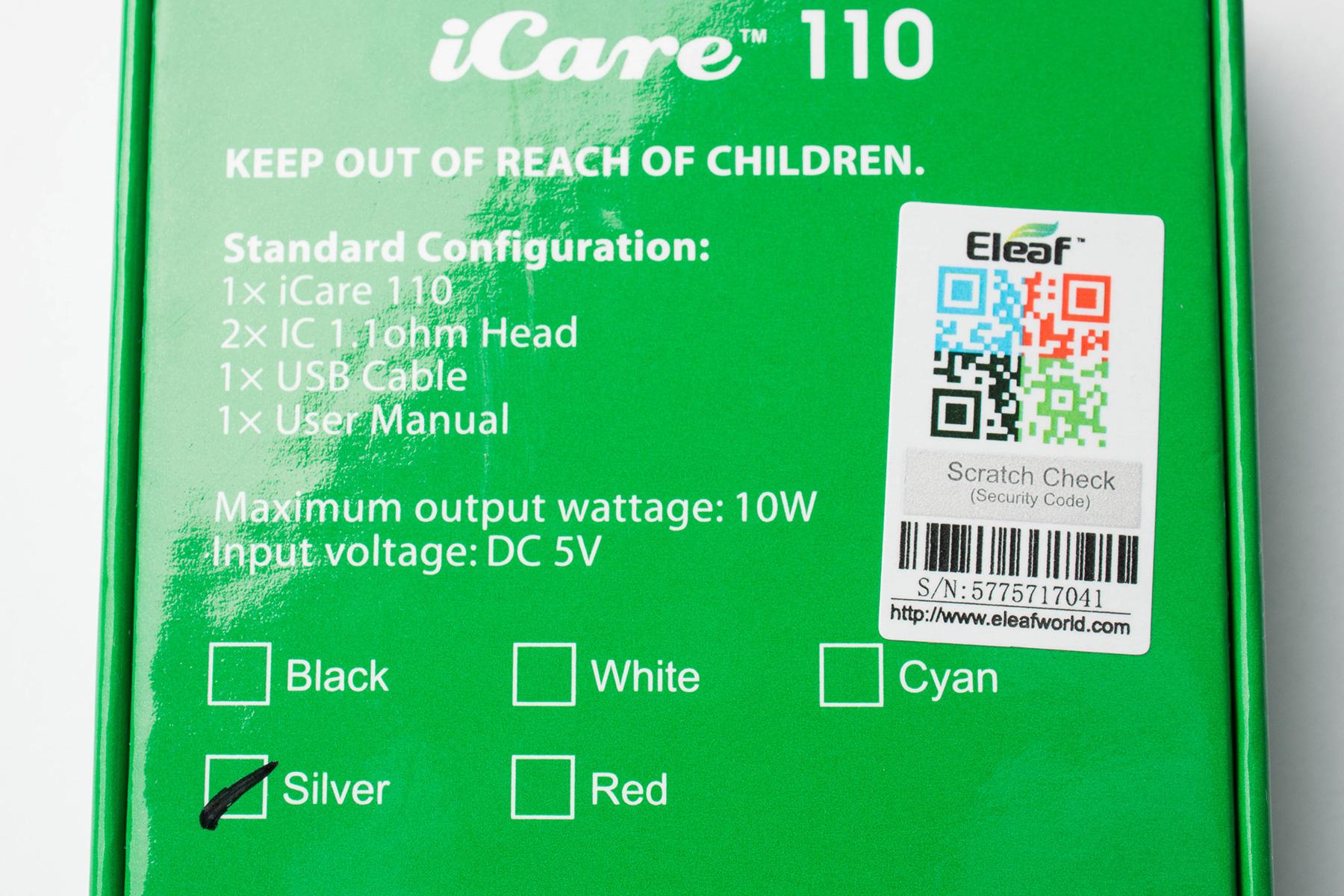【スターターキット】iCare 110 「アイケア110」(eleaf イーリーフ) レビュー