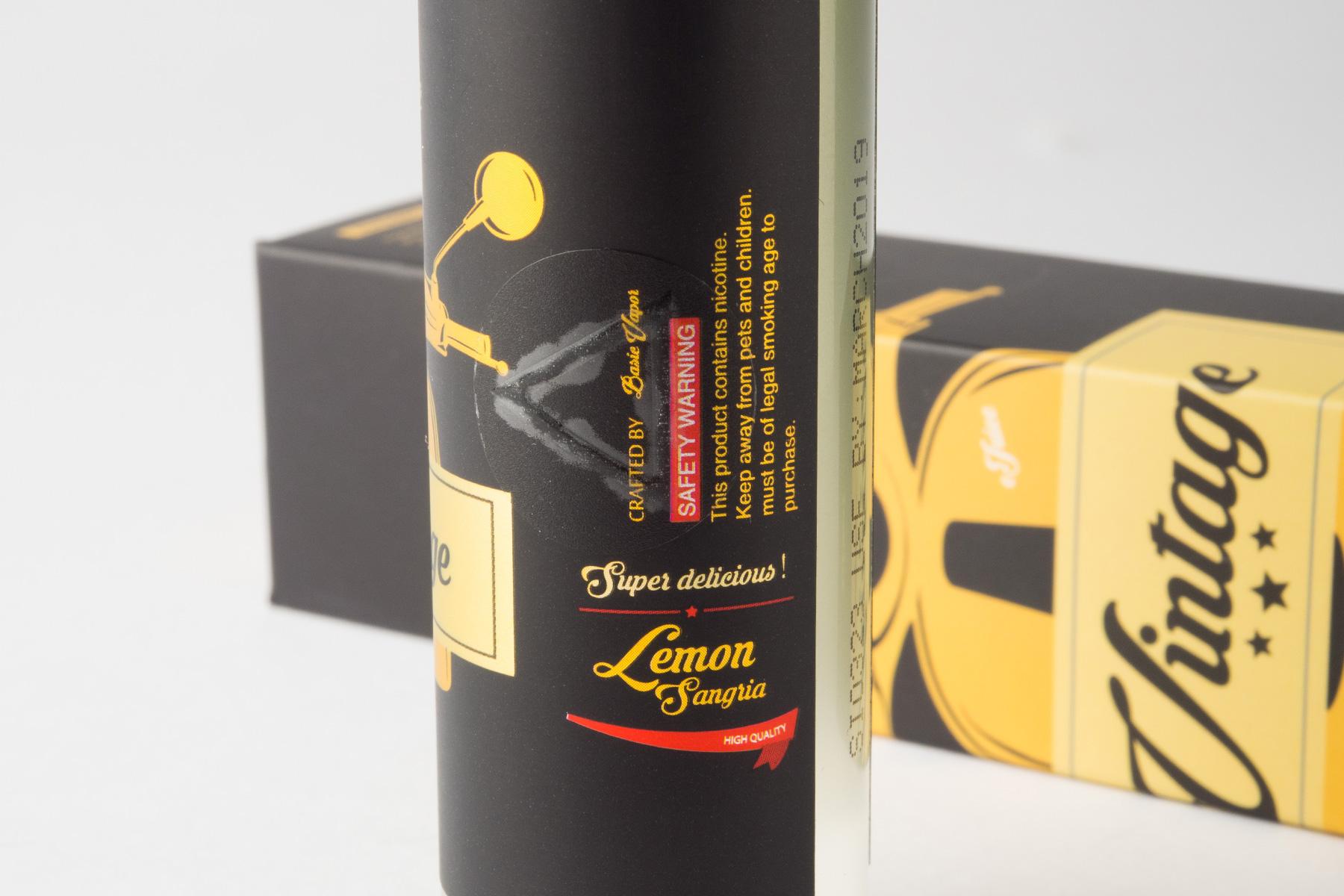 【リキッド】Lemon Sangria「レモン サングリア」 (Basic Vapor/ベーシックベイパー) レビュー