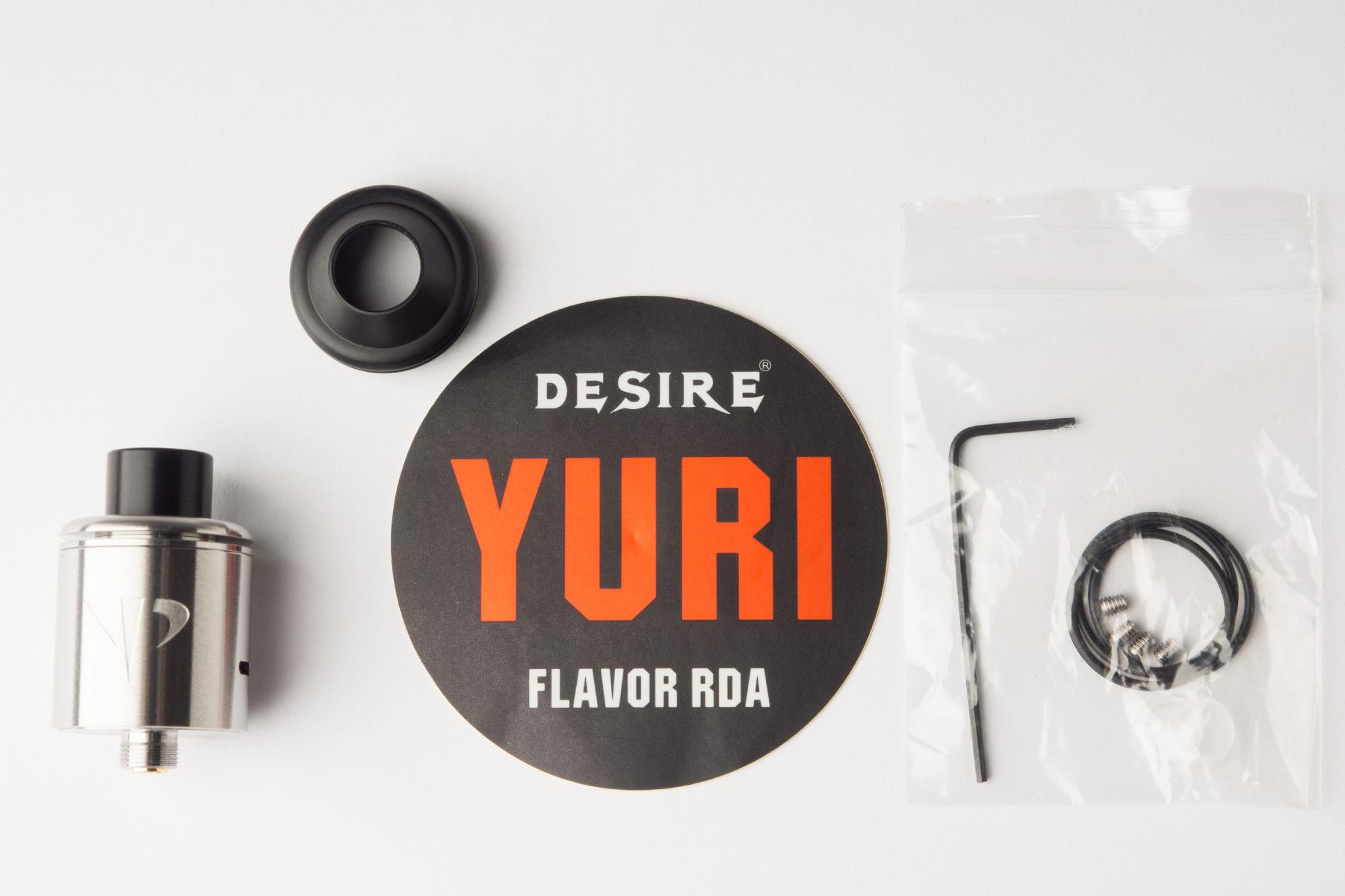 【アトマイザー】YURI RDA「ユーリRDA」 (DESIRE/デザイア) レビュー