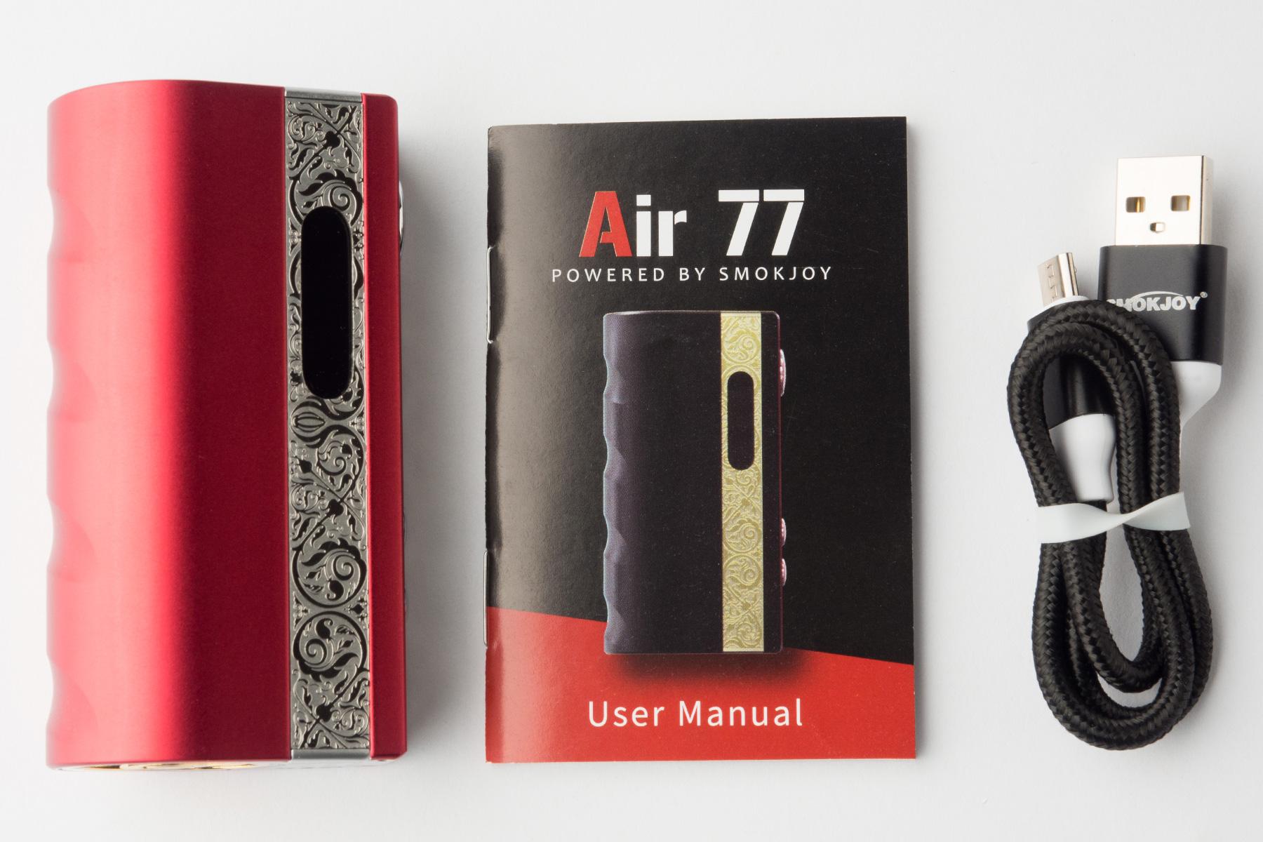 【テクニカルMOD】AIR77 TC MOD 「エアー77」 (Smokjoy/スモックジョイ)レビュー