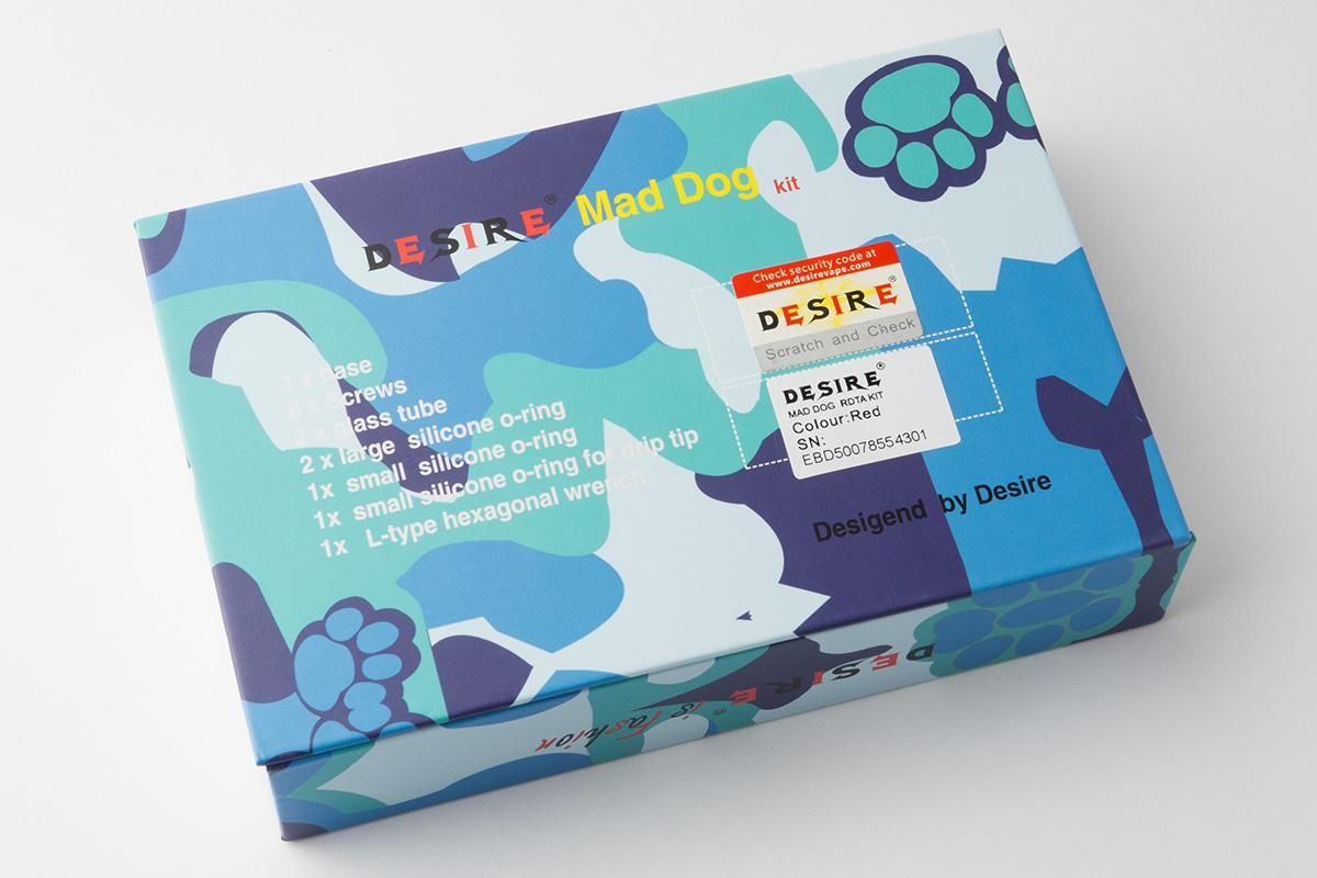 【メカニカル スターターキット】 Mad dog RDTA Kit 「マッドドッグRDTAキット」(DESIRE/デザイア) レビュー