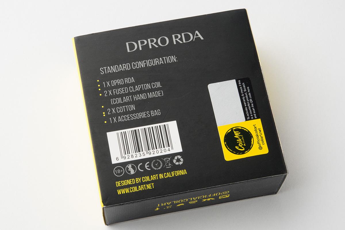 【アトマイザー】DPRO RDA「ディープロ」 (CoilART/コイルアート) レビュー