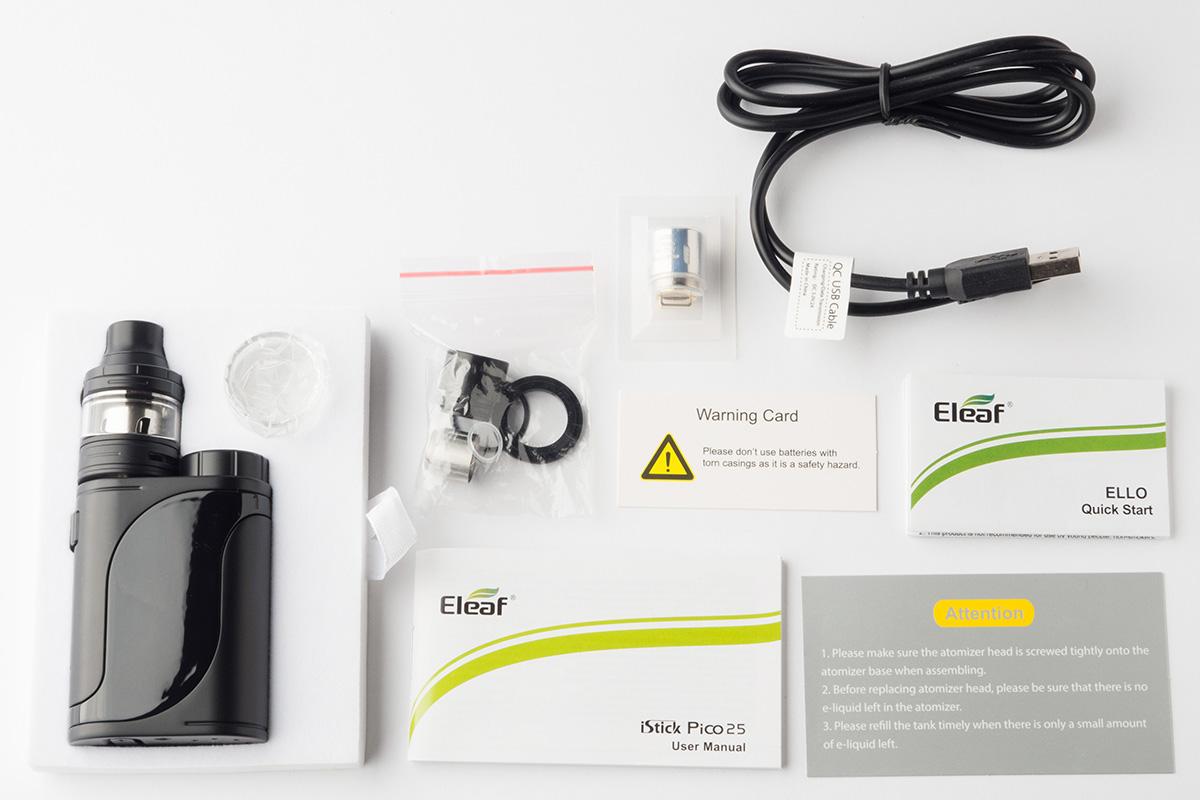 【スターターキット】 iStick Pico 25 with ELLO 「アイスティック ピコ25 ウィズ エッロ」(Eleaf/イーリーフ) レビュー