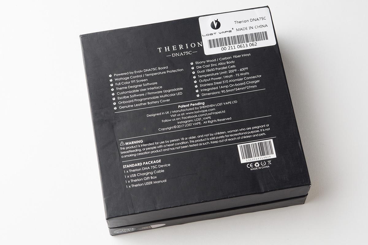 【テクニカルMOD】THERION DNA75C (LOST VAPE/ロストベイプ) レビュー