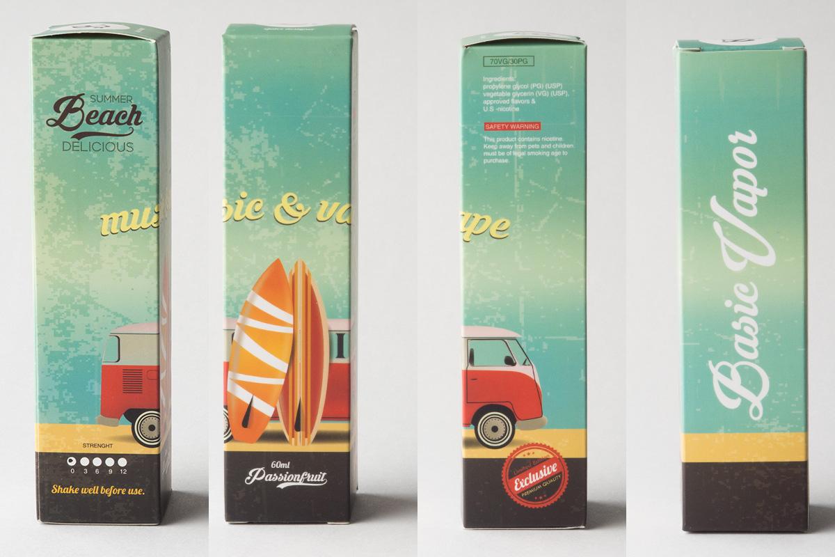 【リキッド】SUMMER Beach DELICIOUS「サマービーチデリシャス」 (Basic Vapor/ベイシックベイパー) レビュー