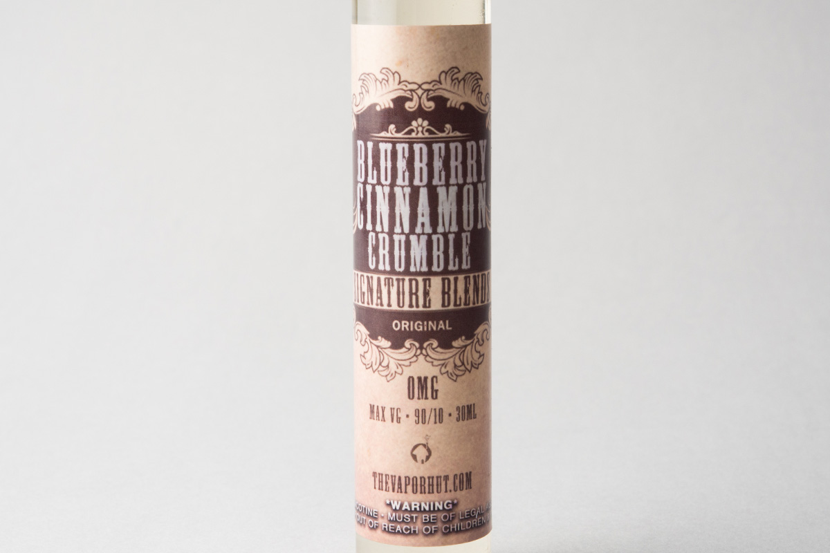 【リキッド】Blueberry Cinnamon Crumble「ブルーベリーシナモンクランブル」 (The Vapor Hut/ベイパー ハット) レビュー