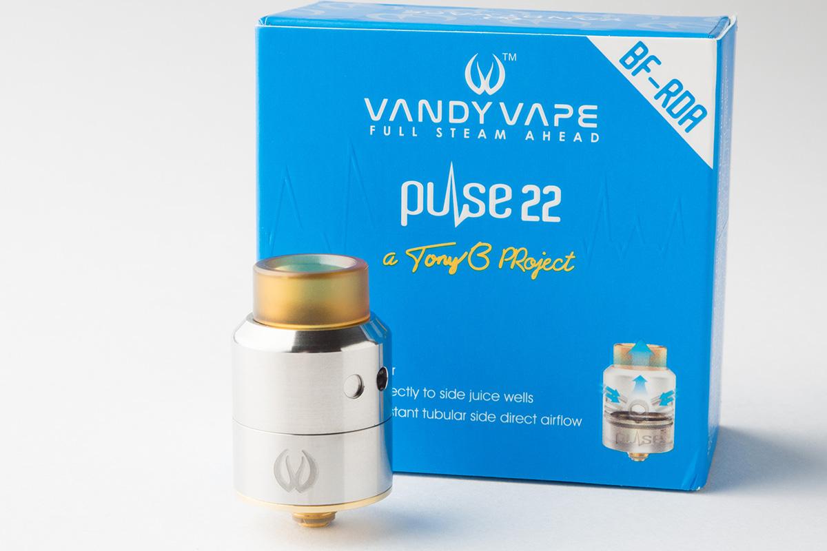 【アトマイザー】PULSE 22 BF-RDA「パルス」 (VANDY VAPE/バンディーベイプ) レビュー