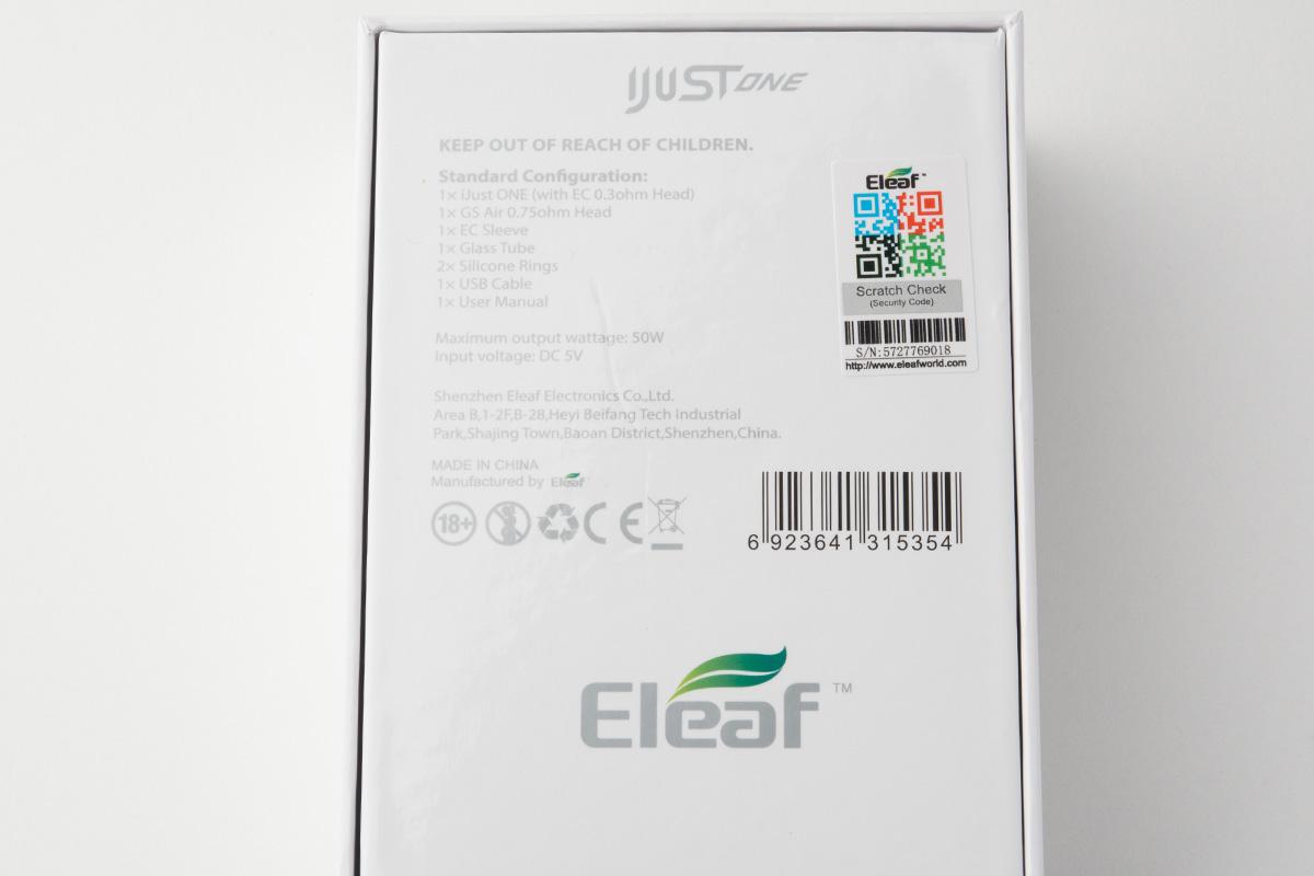 【スターターキット】iJUST ONE「アイジャスト ワン」 (Eleaf/イーリーフ) レビュー