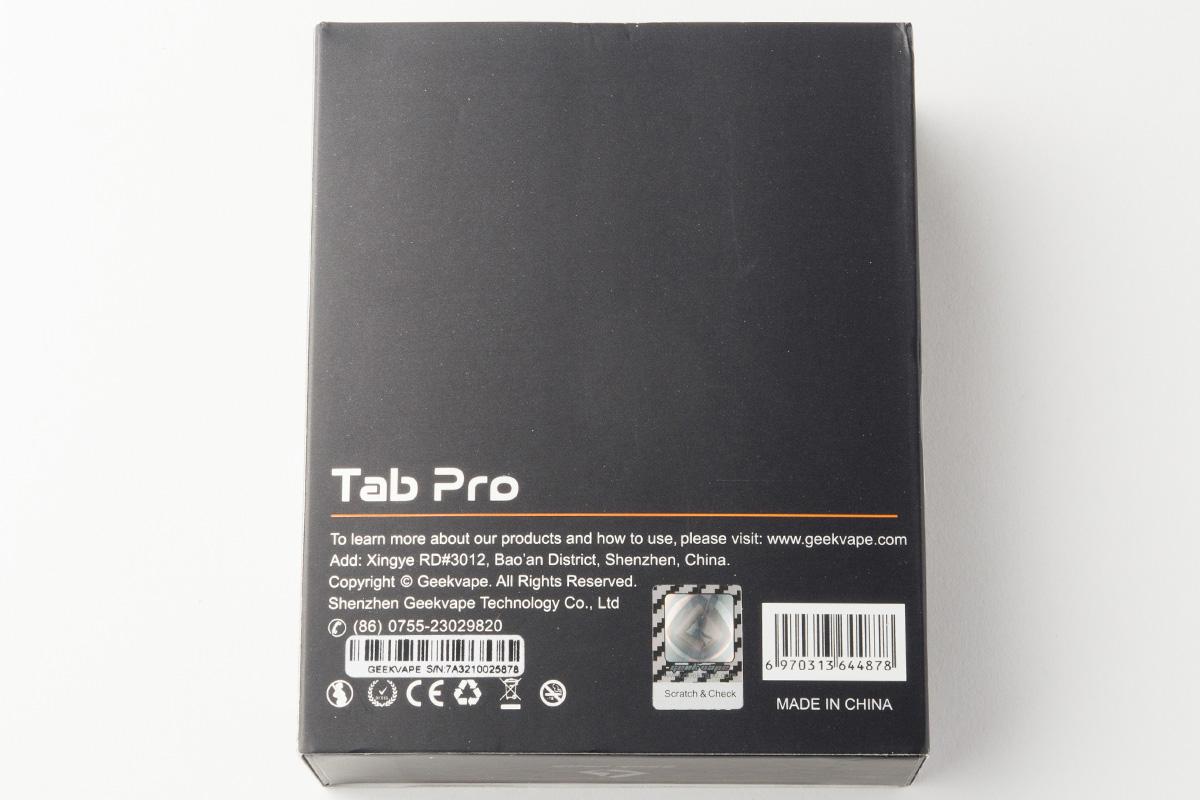 【オームメーター・テクニカルMOD】Tab Pro「タブ プロ」(GeekVape/ギークベイプ) レビュー
