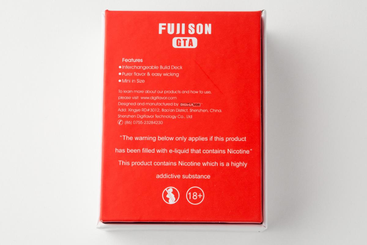 【アトマイザー】Fuji Son GTA 「フジ ソン ジーティーエー」 (DIGIFLAVOR/デジフレーバー) レビュー