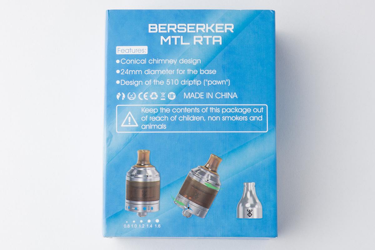 【アトマイザー】Berserker MTL RTA「バーサーカー エムティーエル」 / VANDY VAPE「バンディーベイプ」 レビュー