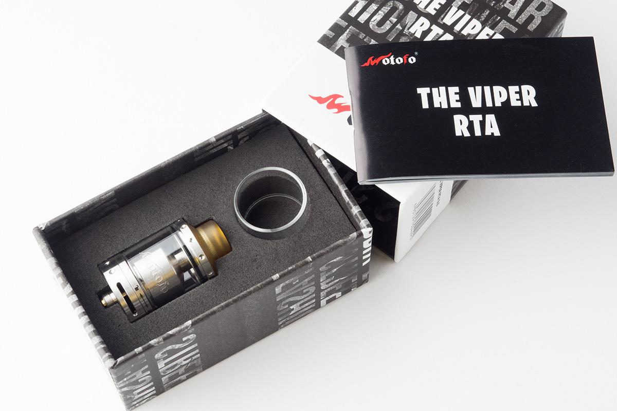 【アトマイザー】 THE VIPER RTA「ザ バイパー」 (Wotofo/ウォトフォ) レビュー