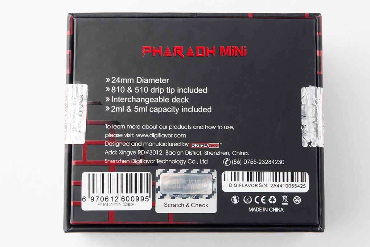 【アトマイザー】Pharaoh Mini RTA ファラオ ミニ / DIGIFLAVOR デジフレーバー レビュー