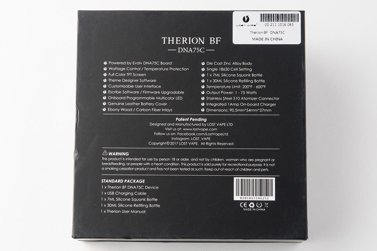 【テクニカルMOD】THERION BF DNA75C セリオン ビーエフ / LOST VAPE ロストベイプ レビュー