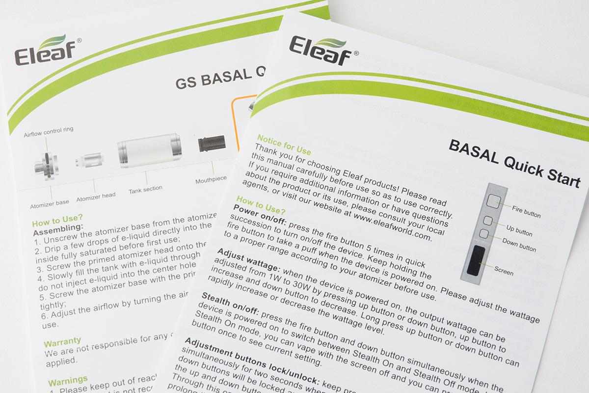 【スターターキット】BASAL Kit「ベイサル」 / Eleaf イーリーフ レビュー