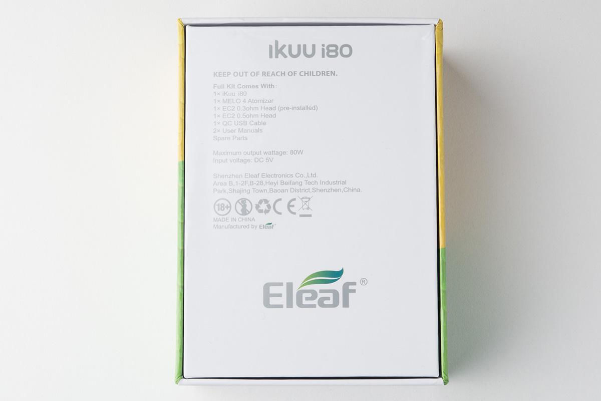 【スターターキット】 iKuu i80 with MELO 4 / Eleaf イーリーフ レビュー