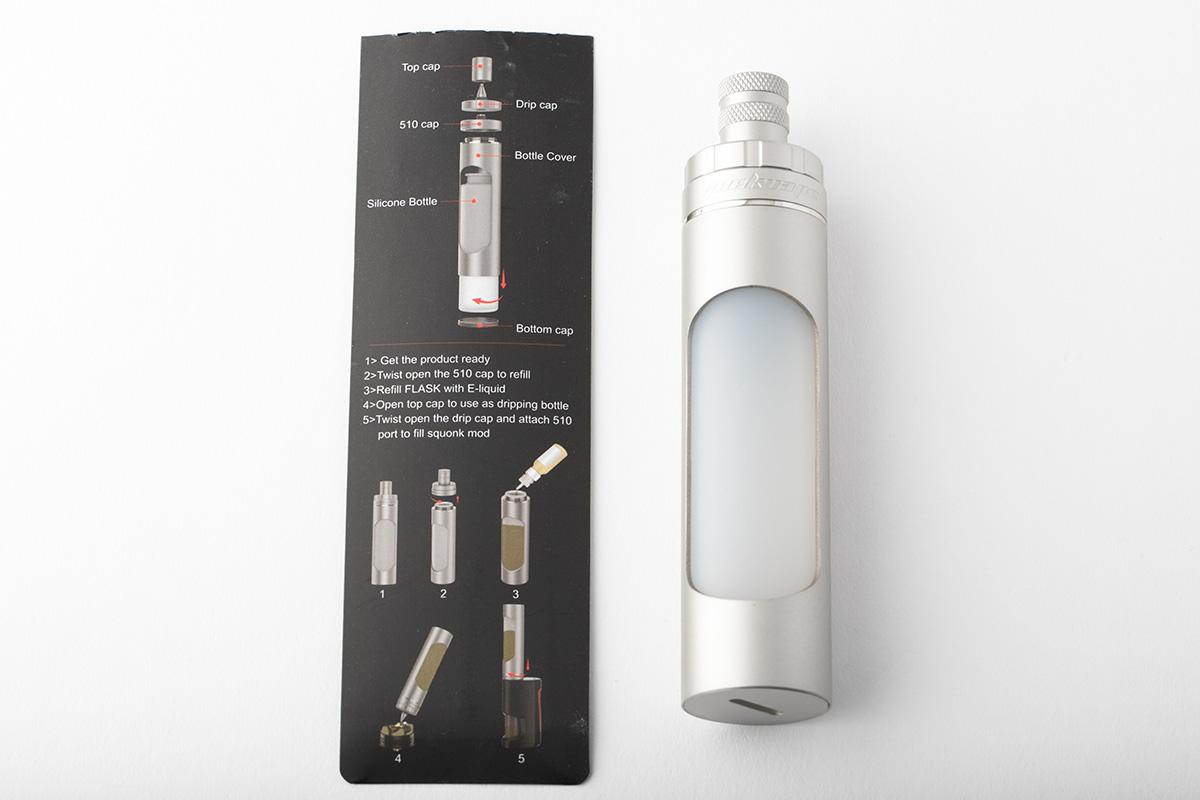 【リフィルボトル】FLASK LIQUID DISPENSER 「フラスコ・リキッド・ディスペンサー」 / Geek Vape ギークベイプ レビュー