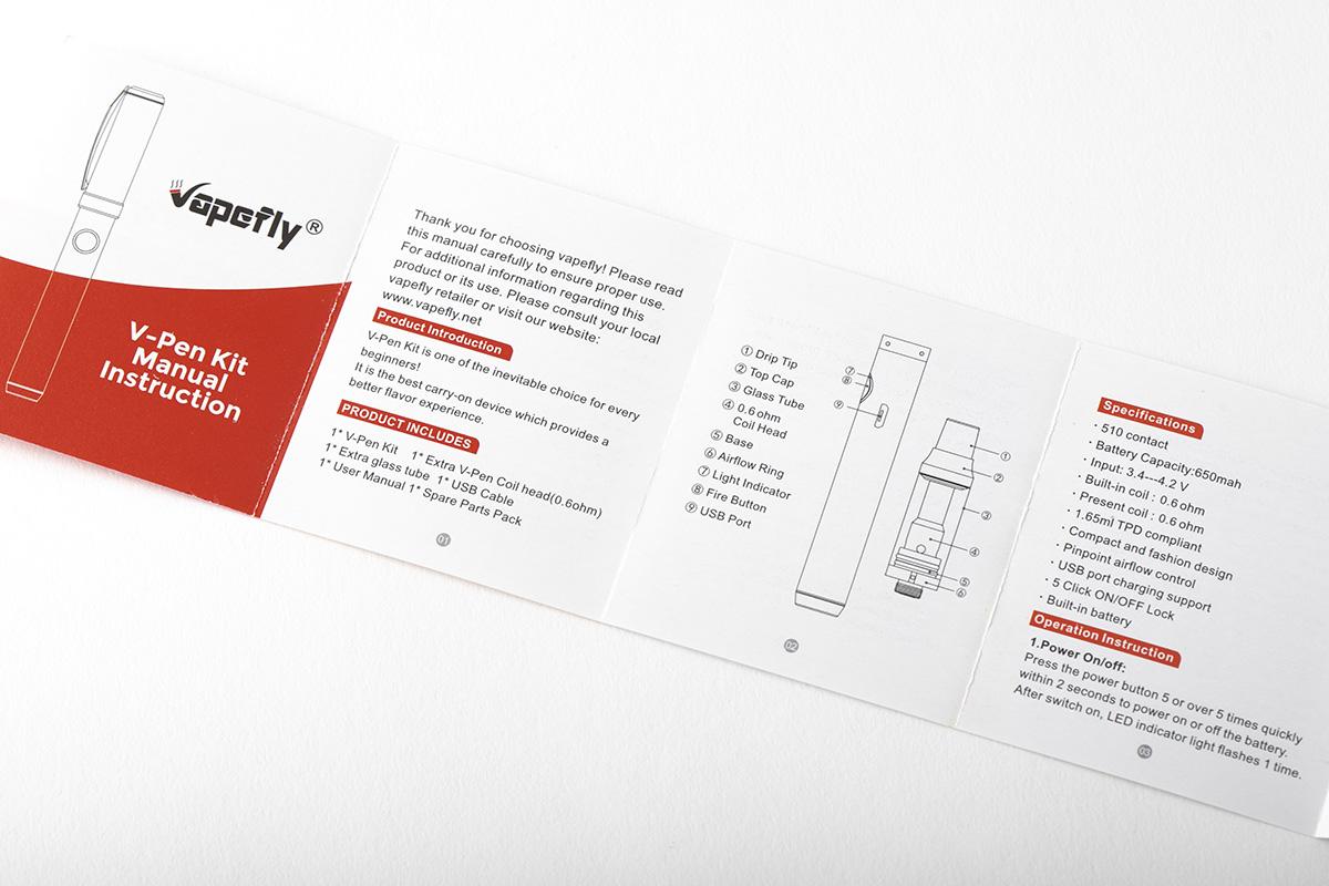 【スターターキット】V-Pen Kit「ブイペン キット」 / Vapefly ベイプフライ レビュー