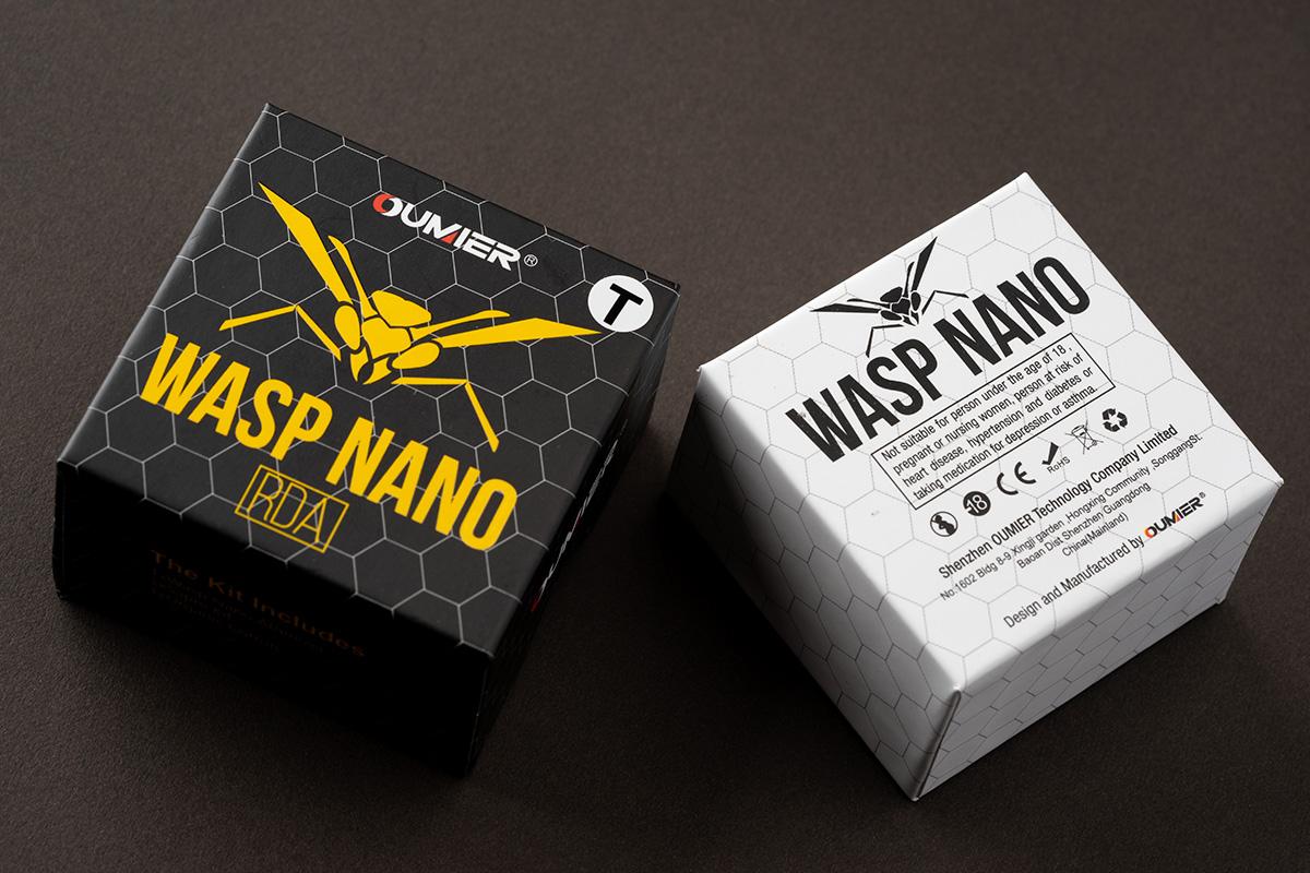 """【アトマイザー】WASP NANO RDA """"transparent""""「ワスプナノ 透明バージョン」 / OUMIER レビュー"""