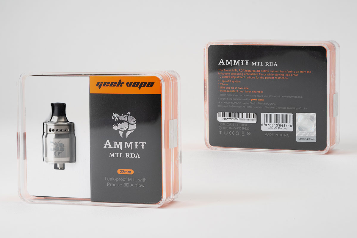 GeekVape AMMIT MTL RDA「アメミット」アトマイザーレビュー