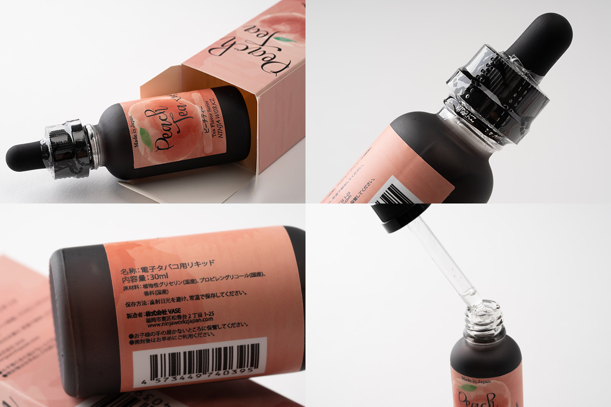 NINJA WORKZ Peach Tea「ピーチティー」リキッドレビュー