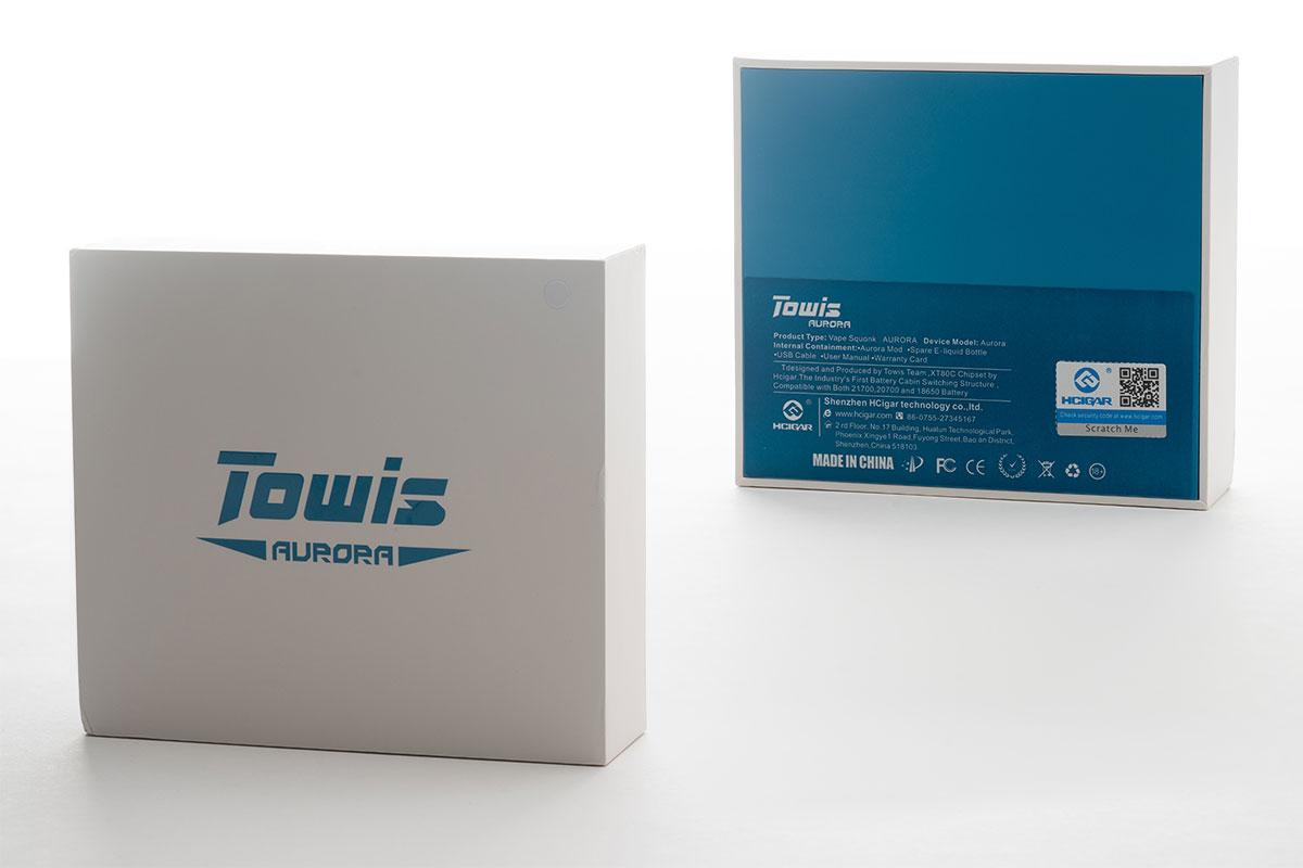 【Hcigar Towis AURORA 80w squonk mod】スコンカーテクニカル レビュー