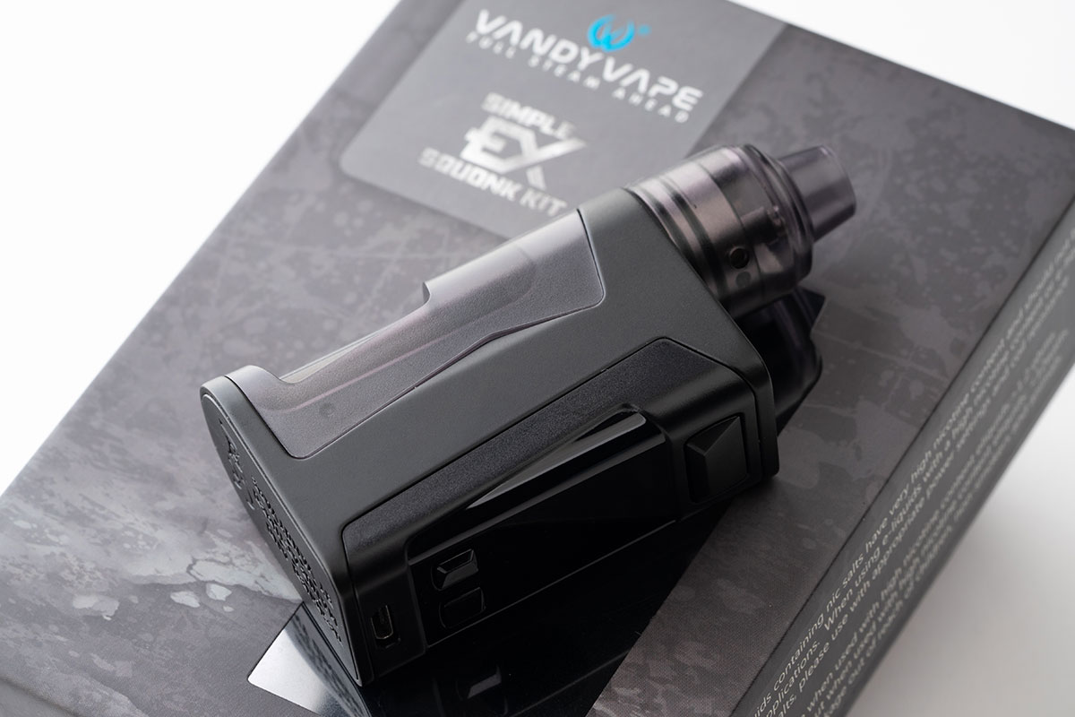 【VANDY VAPE Simple EXレビュー】超小型スコンカーBOX MODスターター!