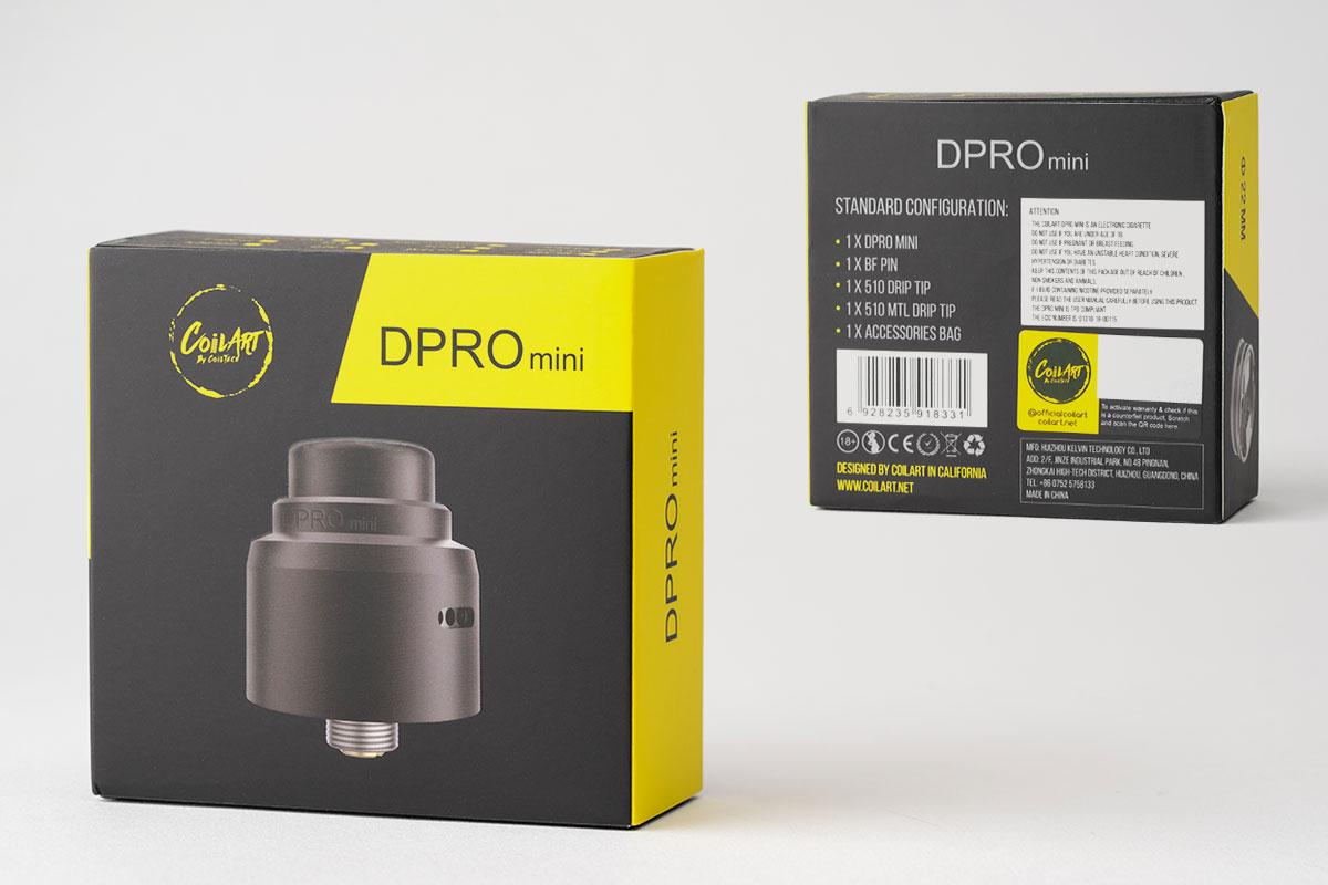 【CoilART DPRO Mini RDA】「ディープロミニ」アトマイザーレビュー