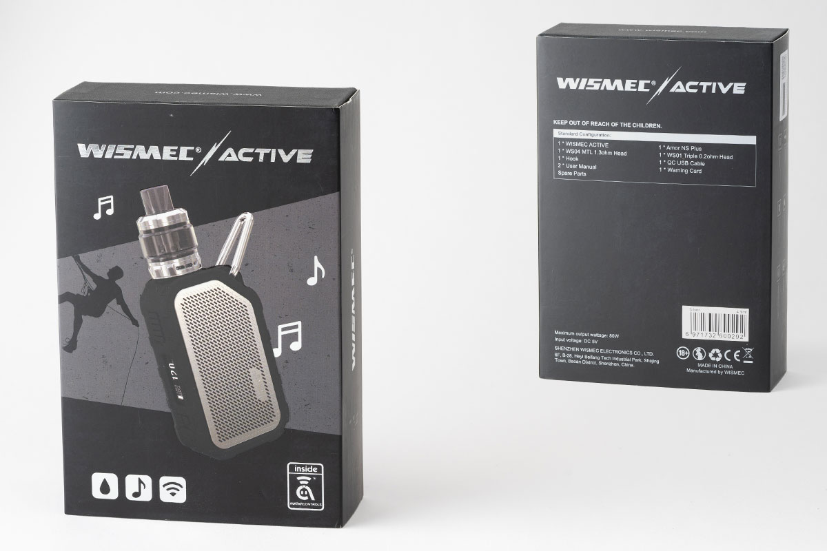 【WISMEC ACTIVEレビュー】スピーカー搭載!防水スターター!