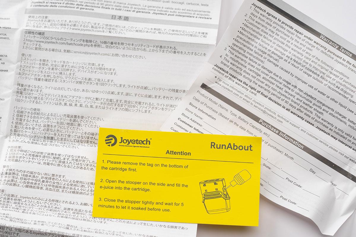 Joyetech RunAboutレビュー (ジョイテック ランバウト)