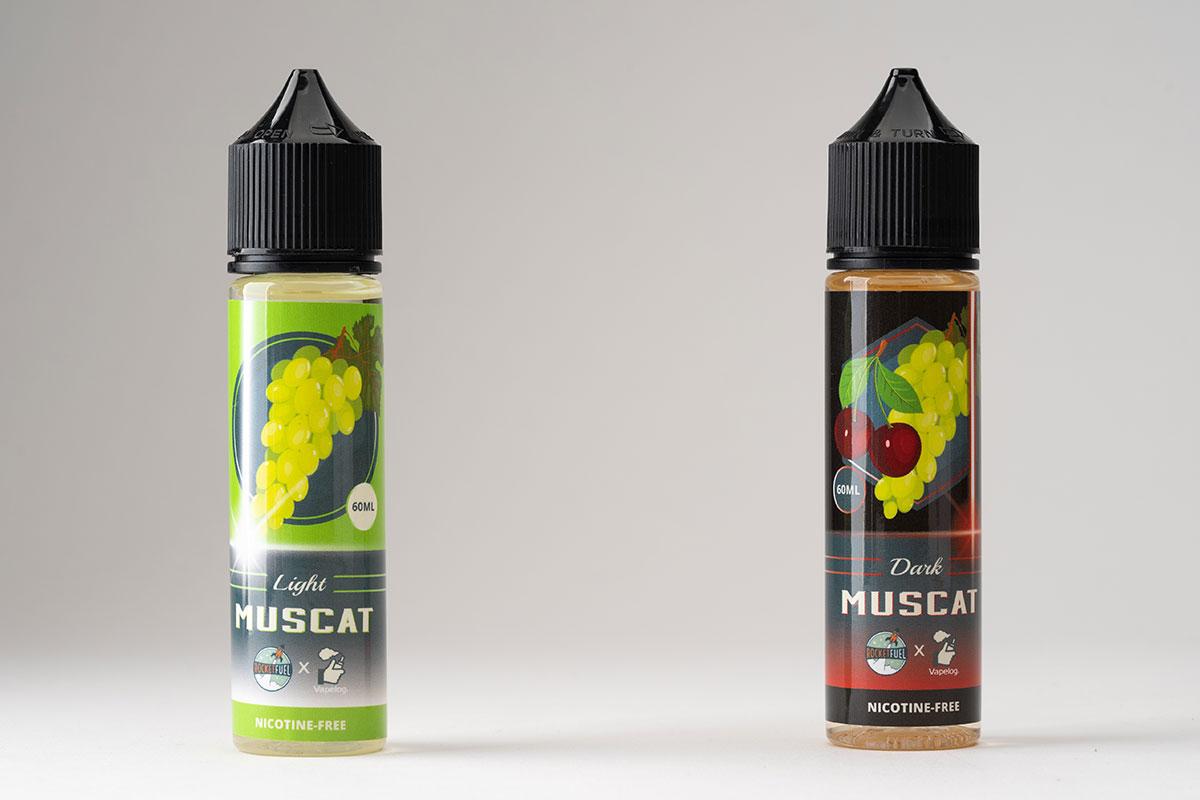 【Light Muscat/Dark Muscat リキッドレビュー】Rocket Fuel Vapes×ベプログのコラボリキッド!