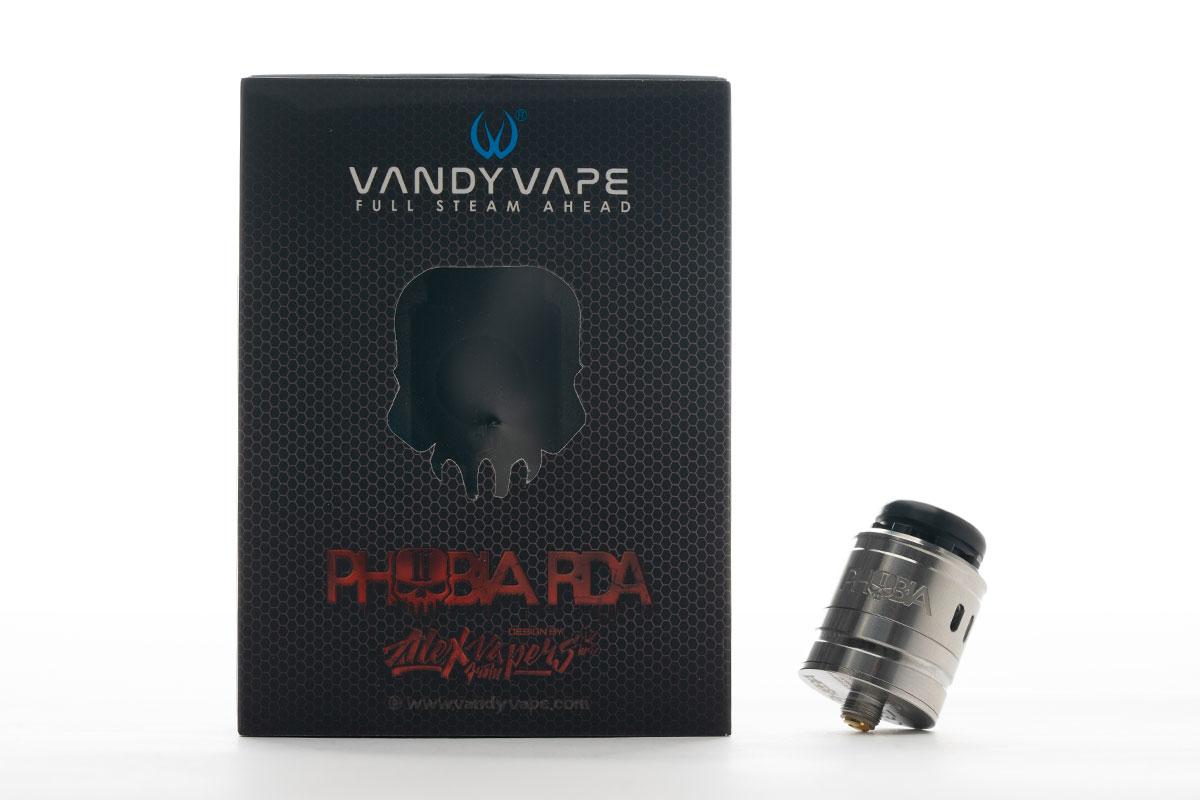 【Vandy Vape Phobia V2 RDAレビュー】バンディーベイプ フォビア バージョン2