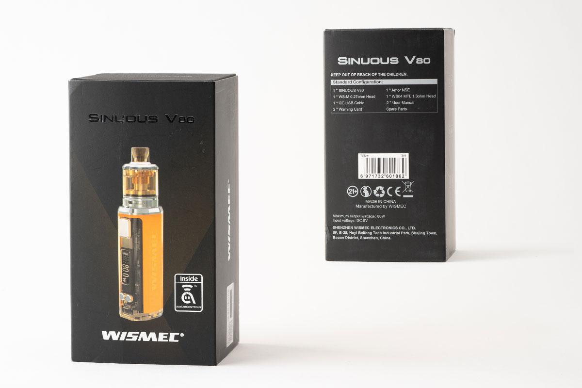 【WISMEC SINUOUS V80レビュー】ウィスメック シニュアス V80