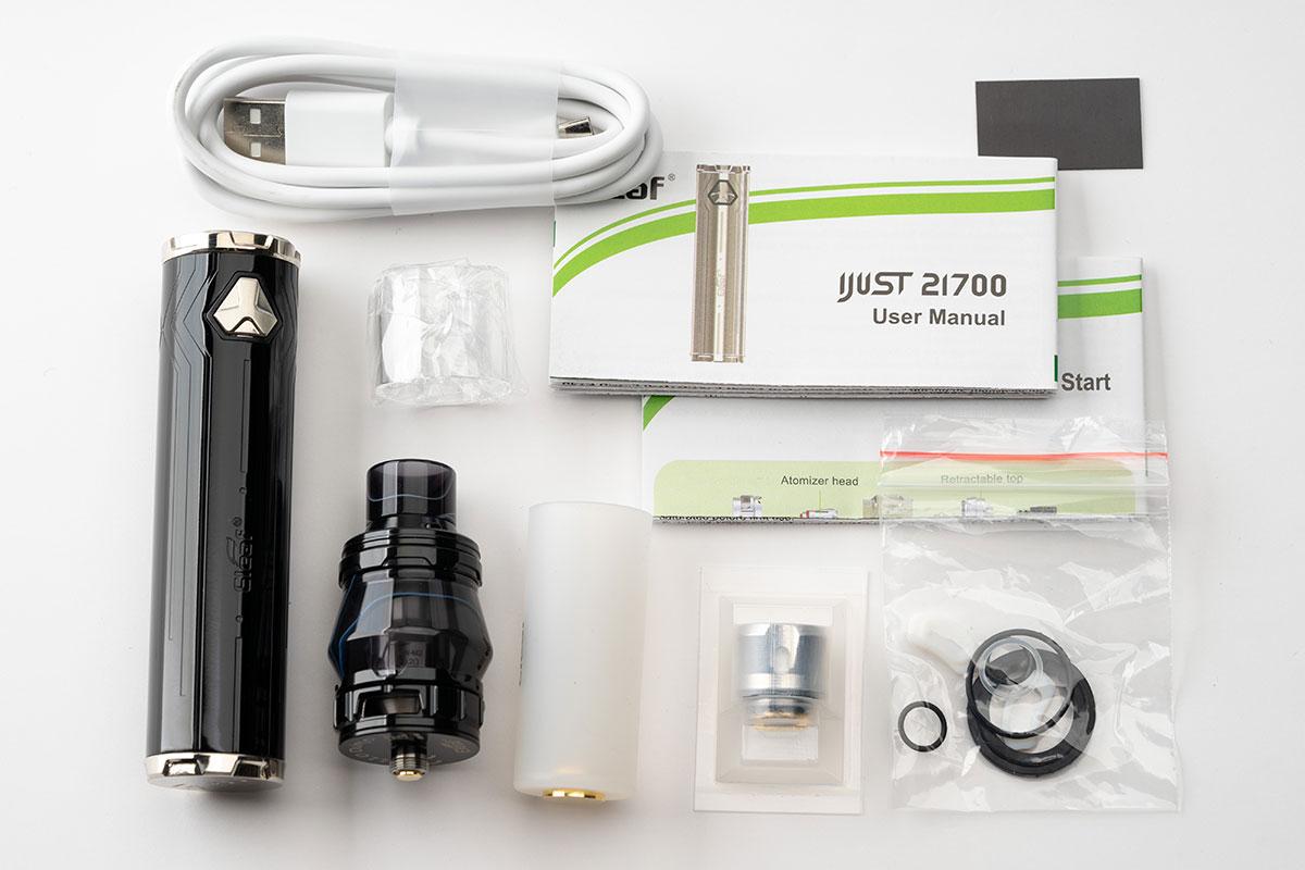 Eleaf iJust21700の付属品