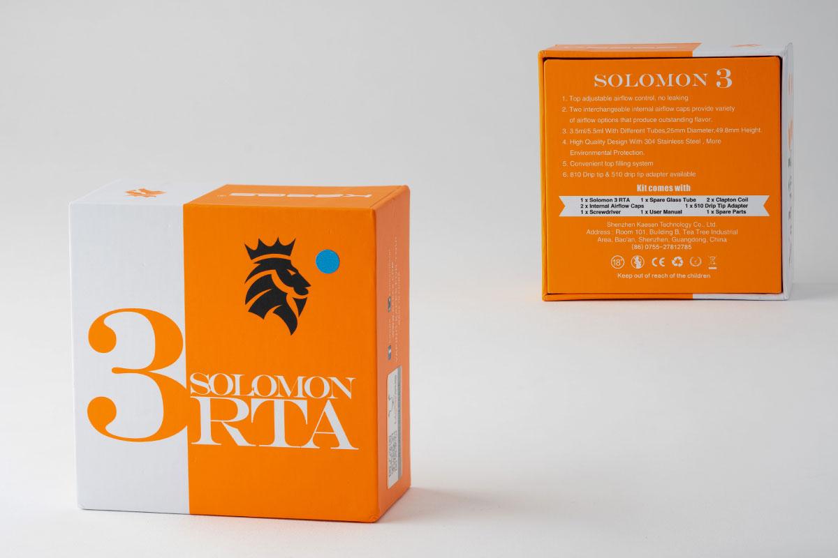 KAEES Solimon 3 RTAのパッケージデザイン