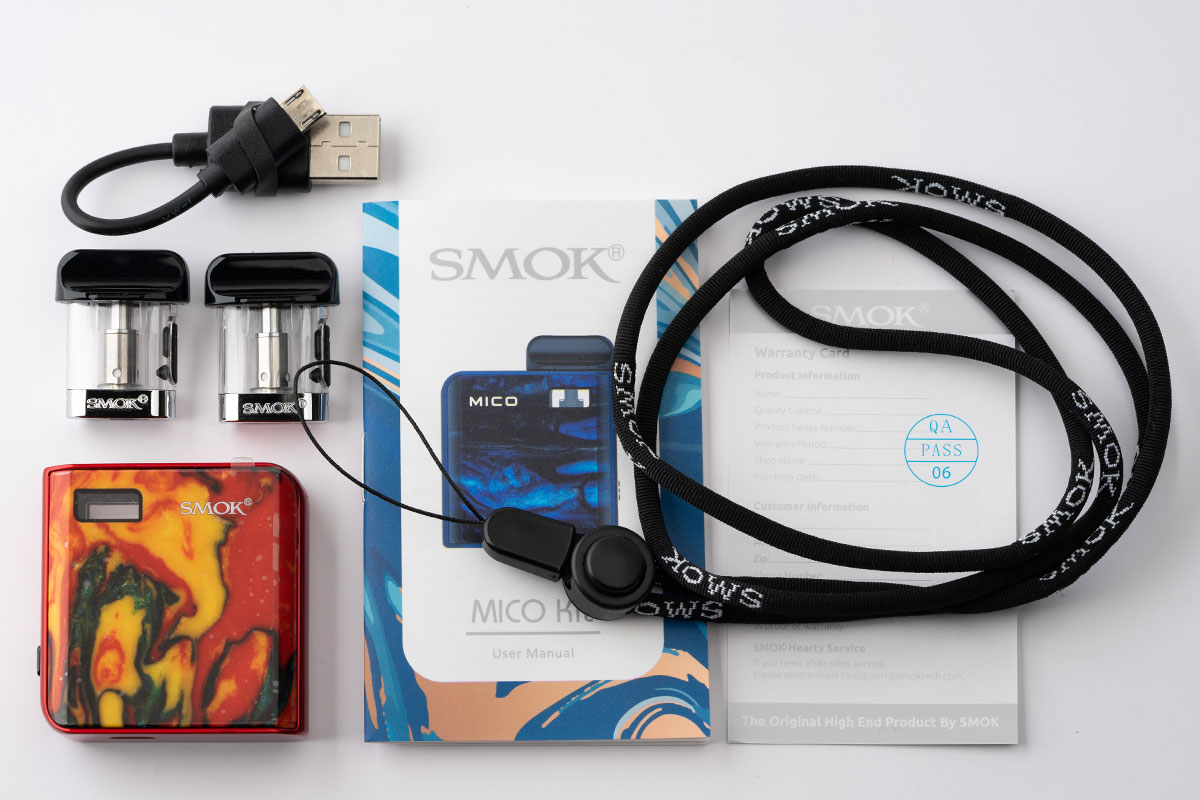 SMOK MICO Kitの内容品
