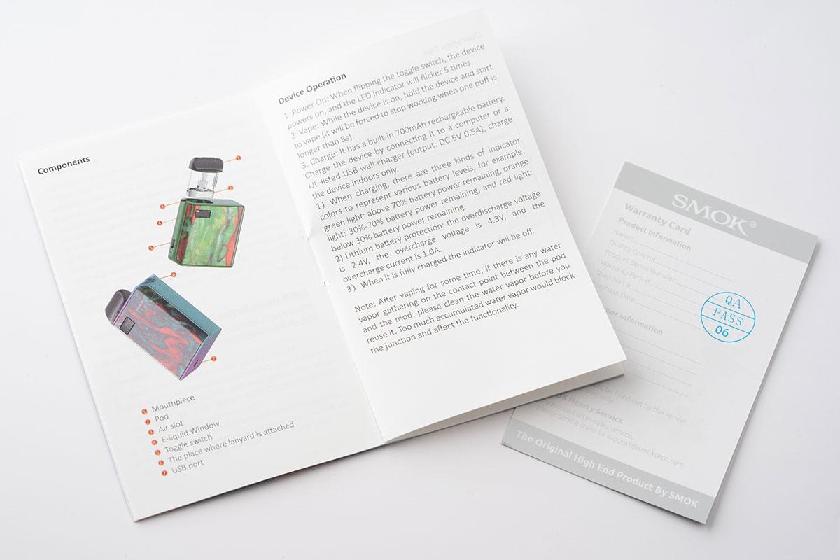 SMOK MICO Kitの英語説明書