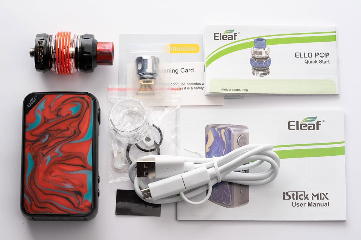 Eleaf iStick MIXの内容品