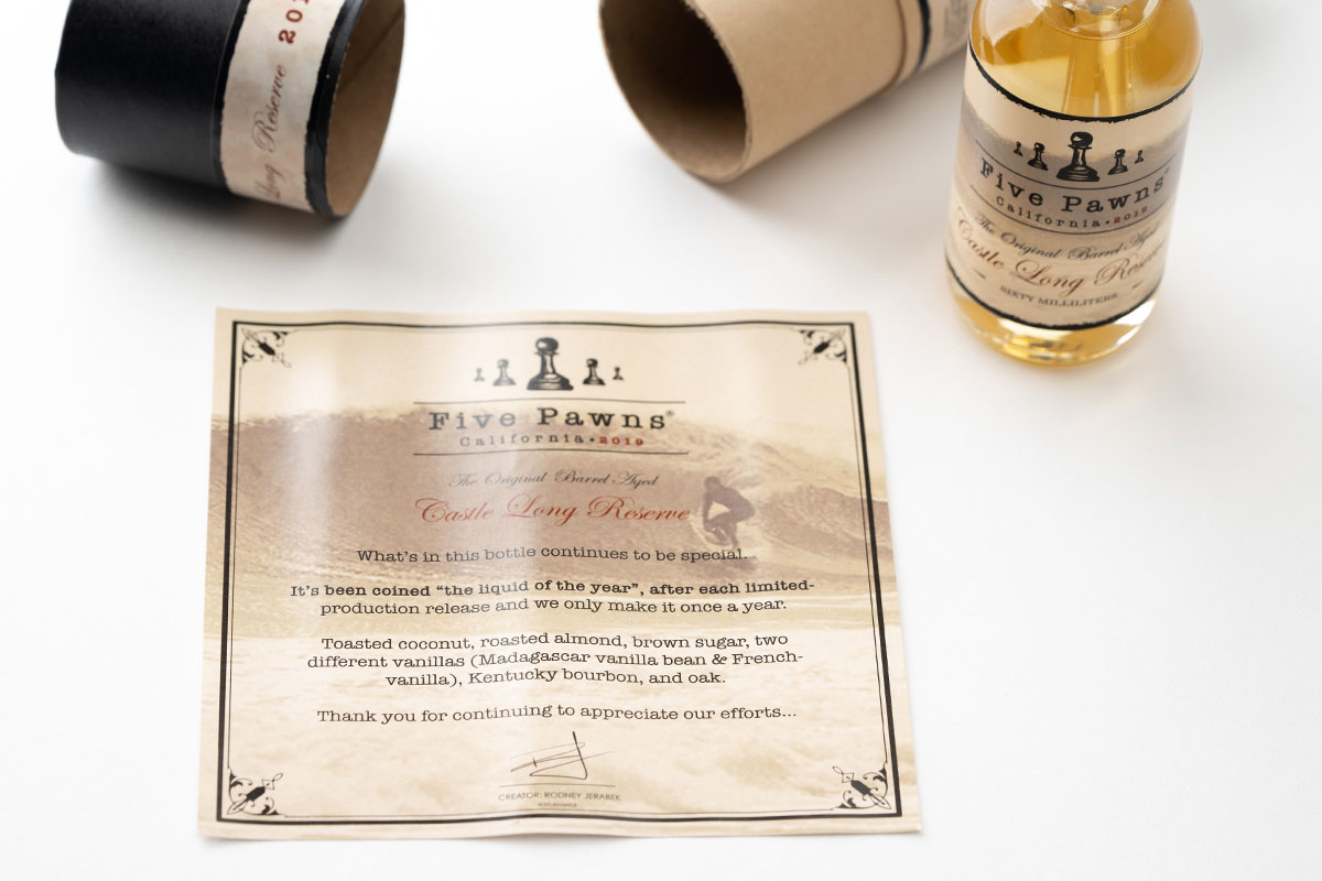 Five Pawns CASTLE LONG RESERVE 2019の内容品