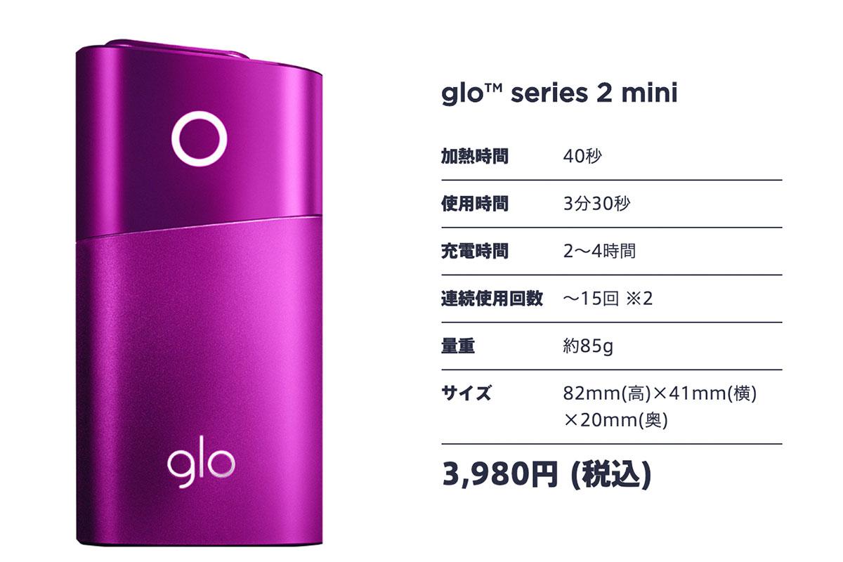 glo mini スペック