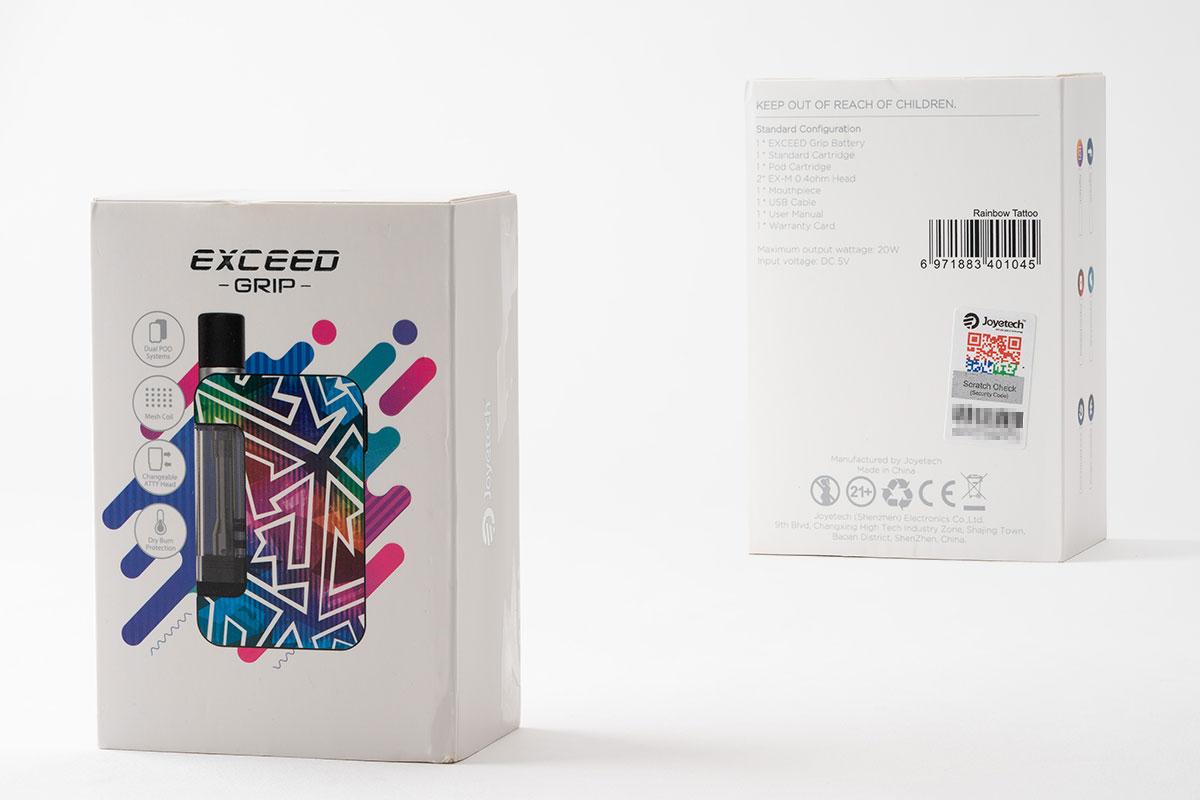 Joyetech EXCEED GRIPのパッケージデザイン