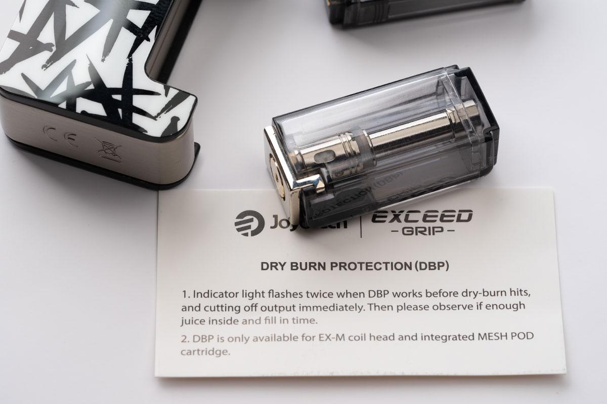 Joyetech EXCEED GRIPのDRY BURN Protectuin