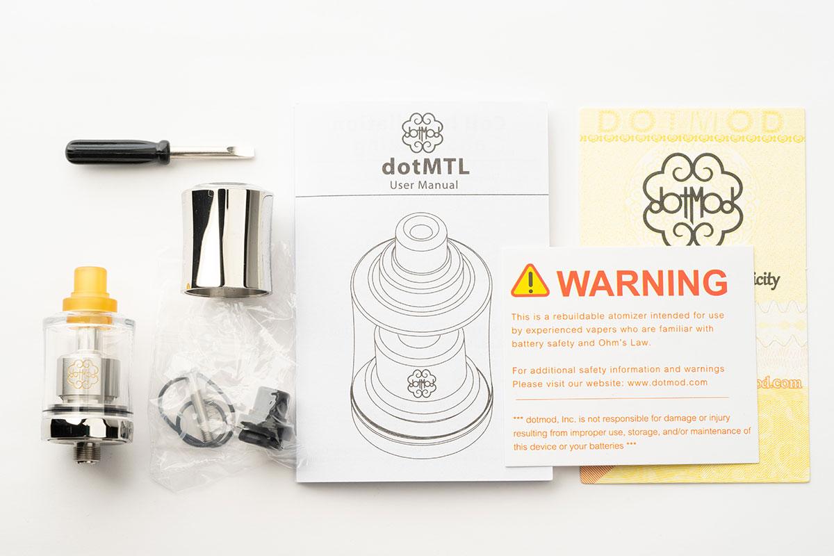 dotmod dotMTL RTA 22mm レビュー